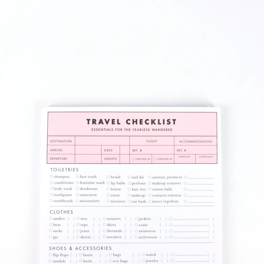 Cool Girls Club Travel Checklist 2.0