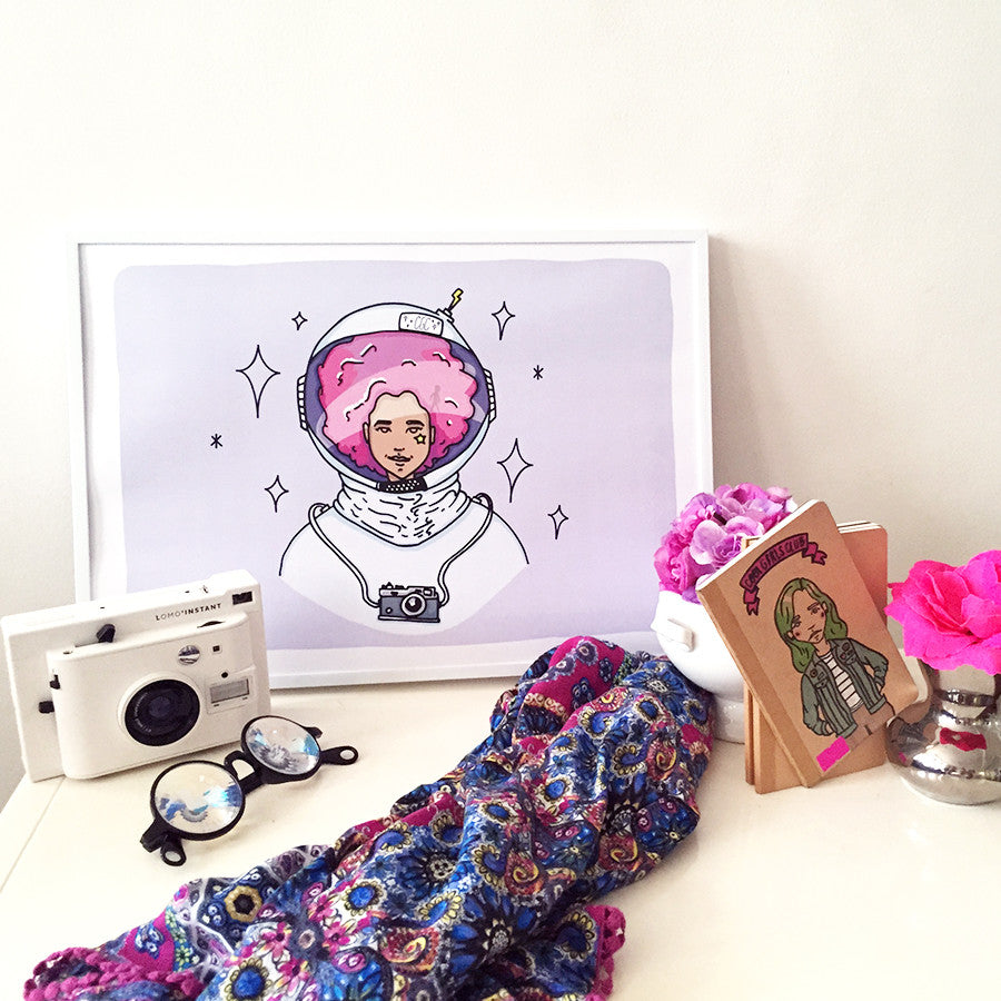 Cool Girls Club Astro Girl Art Print