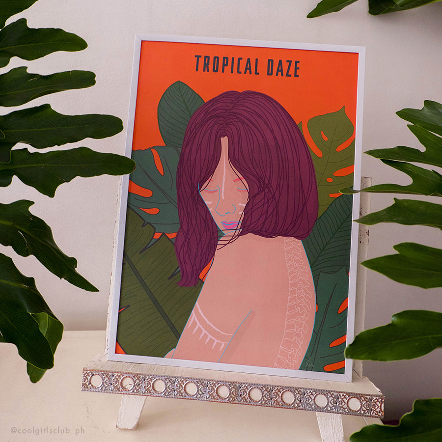 Cool Girls Club Tropical Daze Art Print