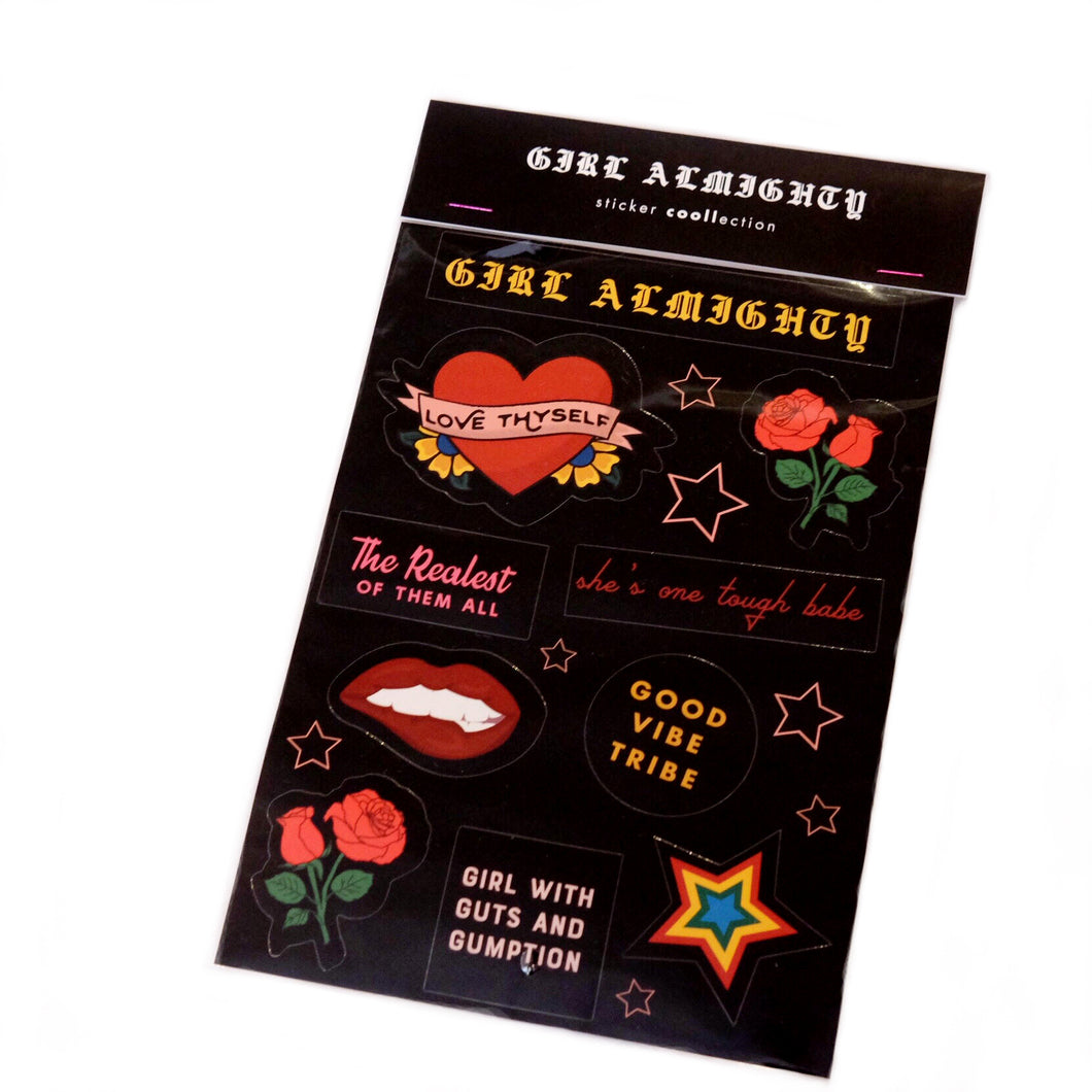 Girl Almighty Sticker Collection