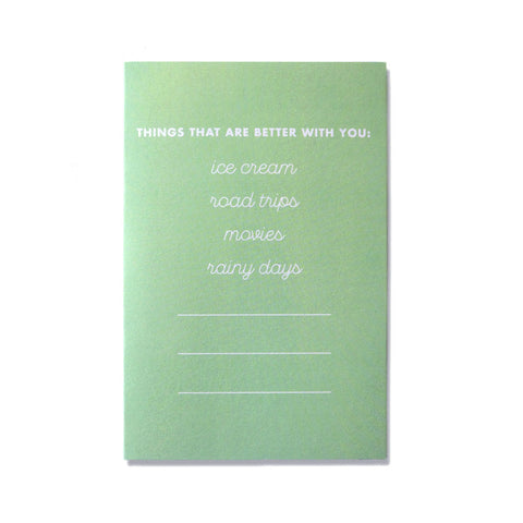 Cool Girls Club Better with You Greeting Card
