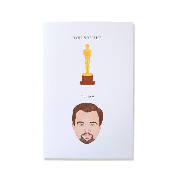 Cool Girls Club Leonardo DiCaprio Greeting Card