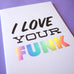 Cool Girls Club Funky Holo Greeting Card