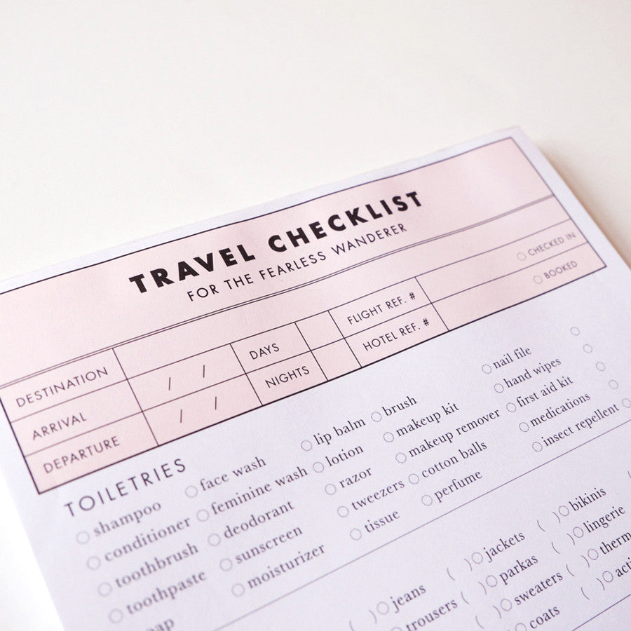 Cool Girls Club Travel Checklist