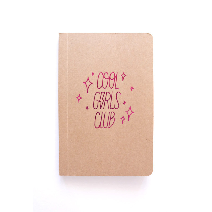 Cool Girls Club Logo Pocket Notebook