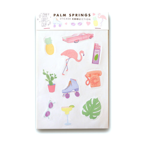 Cool Girls Club Palm Springs Sticker Coolection