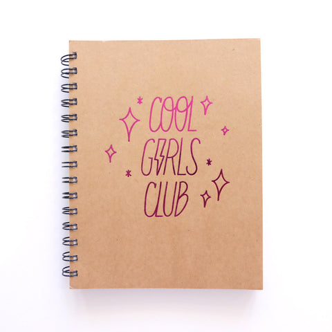 Cool Girls Club Unruled Journal