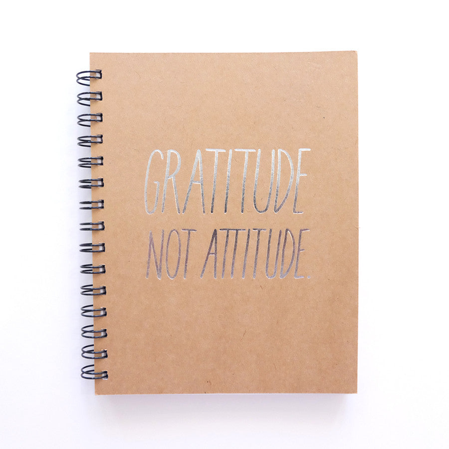 Cool Girls Club Gratitude Not Attitude Unruled Journal