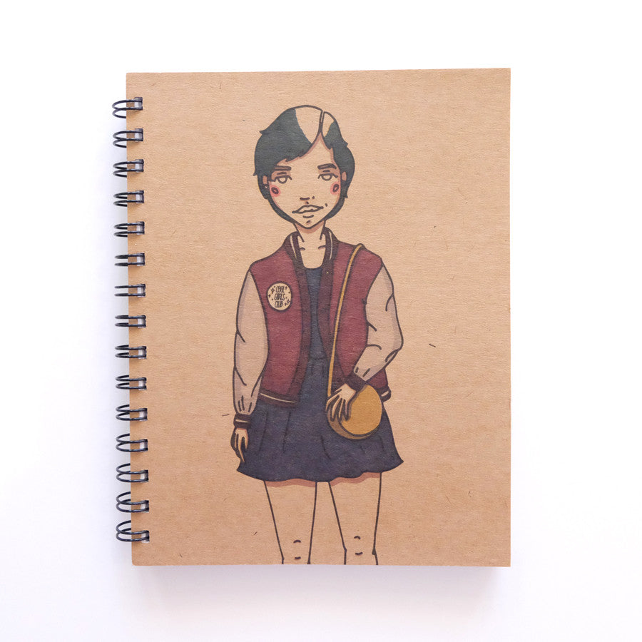 Cool Girls Club Varsity Chick Unruled Journal
