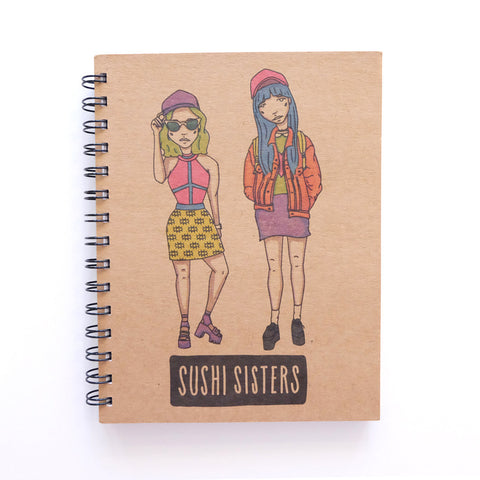 Cool Girls Club Sushi Sisters Unruled Journal