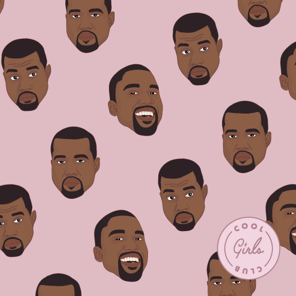 Cool Girls Club Kanye Rapping Paper