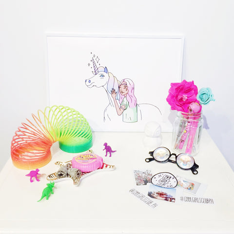 Cool Girls Club Unicorn Art Print
