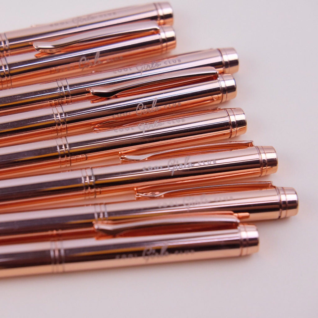 Cool Girls Club Rose Gold Ballpen