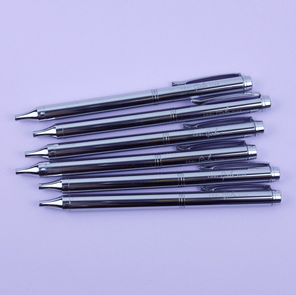 Cool Girls Club Silver Ballpen