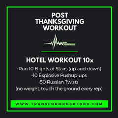 Holiday travel workout in your hotel