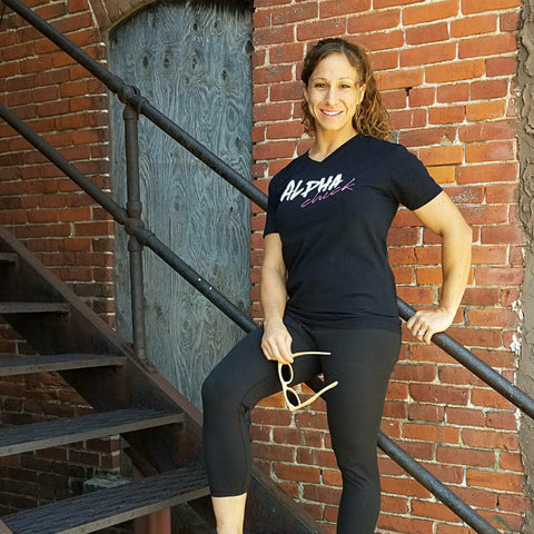 Alpha Chick Super Soft V Neck Tee
