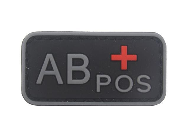 3D Pvc A+ B+ Ab+ O+ Positive Pos A- B- Ab- O- Negative Neg Blood Type Group Patch Tactical Morale Patches Military Rubber Badges - Ab Pos