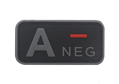 3D Pvc A+ B+ Ab+ O+ Positive Pos A- B- Ab- O- Negative Neg Blood Type Group Patch Tactical Morale Patches Military Rubber Badges - A Neg