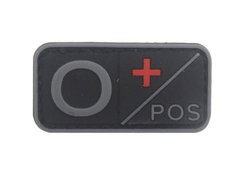 Image of 3D Pvc A+ B+ Ab+ O+ Positive Pos A- B- Ab- O- Negative Neg Blood Type Group Patch Tactical Morale Patches Military Rubber Badges - O Pos