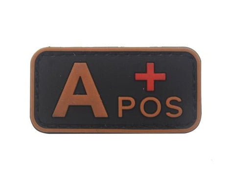 Image of 3D Pvc A+ B+ Ab+ O+ Positive Pos A- B- Ab- O- Negative Neg Blood Type Group Patch Tactical Morale Patches Military Rubber Badges - A Pos