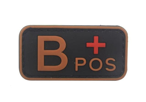 Image of 3D Pvc A+ B+ Ab+ O+ Positive Pos A- B- Ab- O- Negative Neg Blood Type Group Patch Tactical Morale Patches Military Rubber Badges - B Pos
