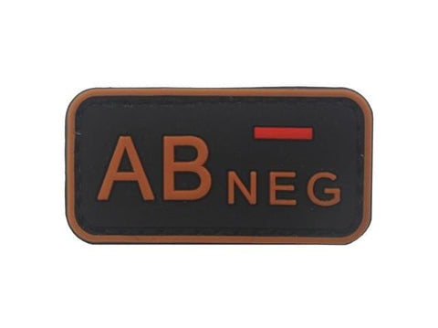 Image of 3D Pvc A+ B+ Ab+ O+ Positive Pos A- B- Ab- O- Negative Neg Blood Type Group Patch Tactical Morale Patches Military Rubber Badges - Ab Neg