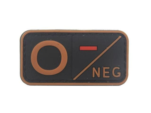 Image of 3D Pvc A+ B+ Ab+ O+ Positive Pos A- B- Ab- O- Negative Neg Blood Type Group Patch Tactical Morale Patches Military Rubber Badges - B Neg