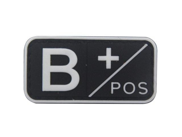 3D Pvc A+ B+ Ab+ O+ Positive Pos A- B- Ab- O- Negative Neg Blood Type Group Patch Tactical Morale Patches Military Rubber Badges - B Pos