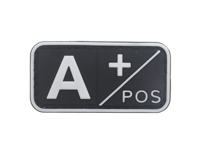 3D Pvc A+ B+ Ab+ O+ Positive Pos A- B- Ab- O- Negative Neg Blood Type Group Patch Tactical Morale Patches Military Rubber Badges - A Pos