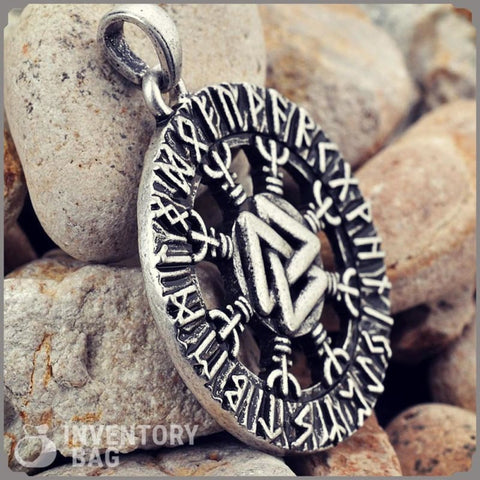 Image of Aegishjalmur Valknut Rune Pendant - Viking Necklace Jewelry Necklace Vikings