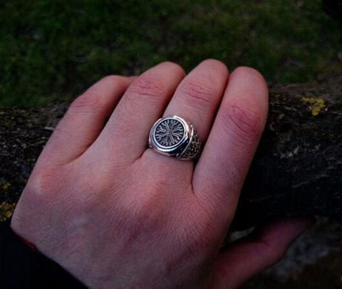Image of Aegishjalmur Viking Ring - Ring Jewelry Rings Vikings