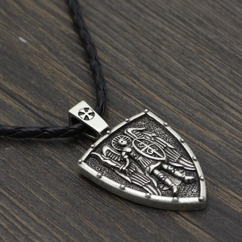 Archangel St. Michael Shield Protection Pendant - Jewelry Knights Necklace
