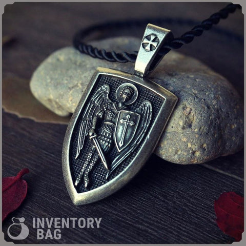 Image of Archangel St. Michael Shield Protection Pendant - Pendant Necklaces Jewelry Knights Necklace