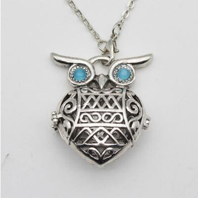 Aromatherapy Essential Oil Diffuser Necklace - Owl - Jewelry