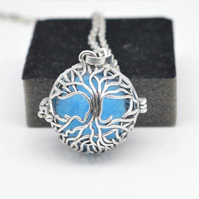 Aromatherapy Essential Oil Diffuser Necklace - Tree Of Life - Jewelry