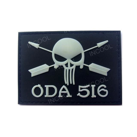 Image of Assorted 3D Pvc Glow In Dark Tactical Patches - 14 - Patches Patches