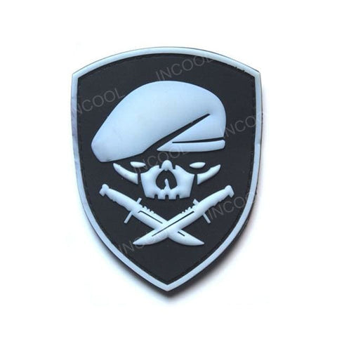 Image of Assorted 3D Pvc Glow In Dark Tactical Patches - 2 - Patches Patches