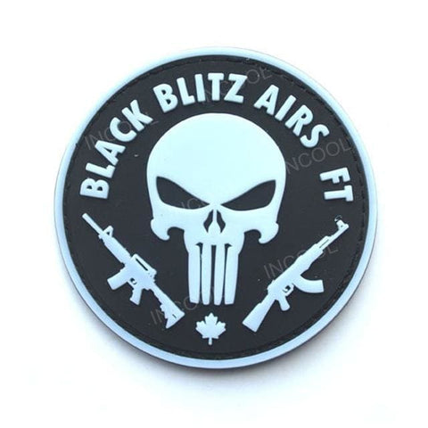 Image of Assorted 3D Pvc Glow In Dark Tactical Patches - 20 - Patches Patches
