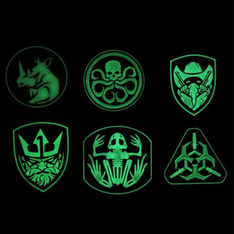 Assorted 3D Pvc Glow In Dark Tactical Patches - Patches Patches