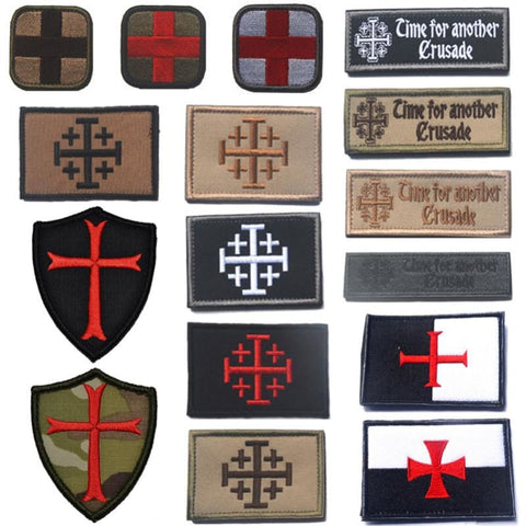 Image of Assorted Templar Teutonic Knights Medic Cross Tactical Patches - Patches Knights Patches