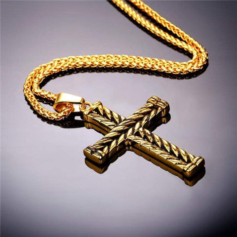 Image of Athelstans Cross - Pendant Necklaces Jewelry Knights Necklace