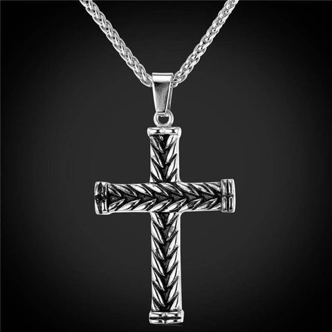 Image of Athelstans Cross - Platinum Plated - Pendant Necklaces Jewelry Knights Necklace