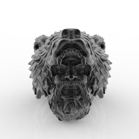 Image of Berserker Ring - 8 / Black - Rings Ring Viking