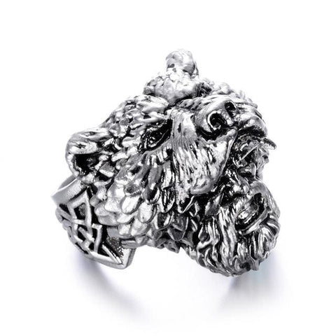 Image of Berserker Ring - 8 / Silver - Rings Ring Viking