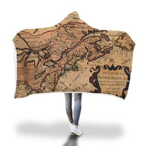 Canada New France Hooded Blanket - Hooded Blanket Blankets Hooded Blankets