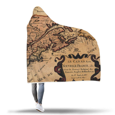 Image of Canada New France Hooded Blanket - Hooded Blanket Blankets Hooded Blankets