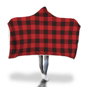 Canadian Plaid Hooded Blanket - Hooded Blanket Blankets Hooded Blankets