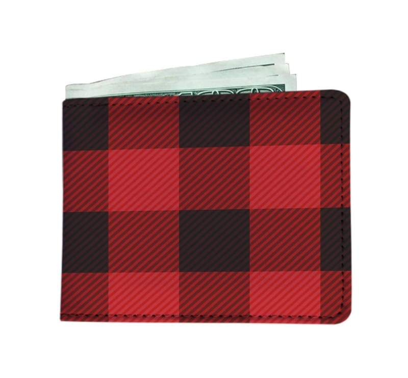 Canadian Plaid Mens Wallet - Mens Wallet Mens Wallets