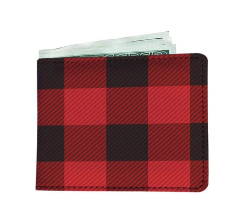 Image of Canadian Plaid Mens Wallet - Mens Wallet Mens Wallets