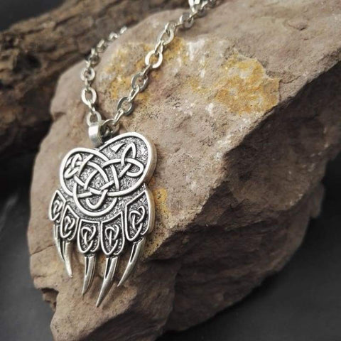 Celtic Bear Paw Necklace - Chain Necklaces Spirit Bear Company Vikings